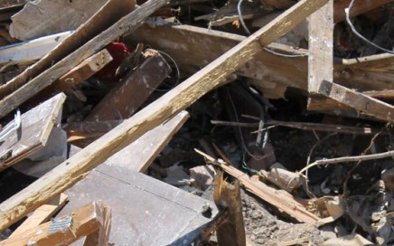Building waste collected from site