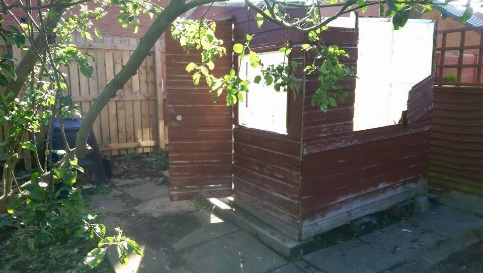 Dismantling old shed yarm