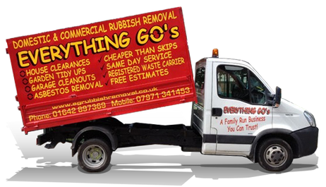 Everything Go's rubbish removal Middlesbrough, Stockton-on-tees, yarm, billingham, hartlepool, redcar and cleveland
