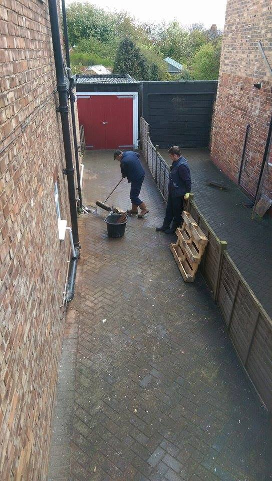 sweeping up in Thornaby