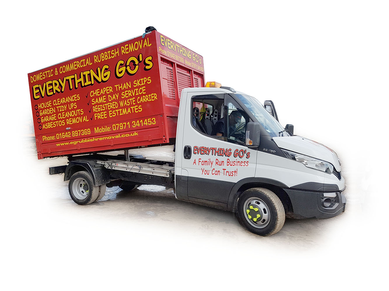 Everything Go's rubbish removal Teesside Cleveland North Yorkshire and Durham